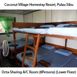 Octa-Sharing A/C Rooms (8Person) (Lower-Floor)